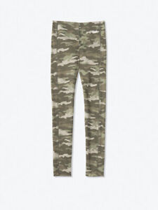 NWT VICTORIA SECRET PINK Active Earthy Camo Compression V Leggings Pants L NEW