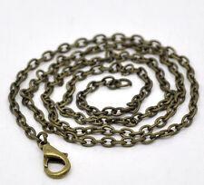 12 Colliers Chaîne Maille Forçat Bronze 45cm