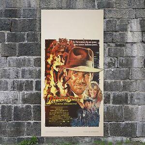 Locandina Originale Indiana Jones Il Tempio Maledetto  Temple of Doom - 33x70 CM