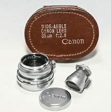 Canon Serenar 35mm f2.8 LTM Leica M39 mount with viewfinder