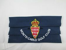 Vintage Monte Carlo Golf Club Embroidered Patch 985A