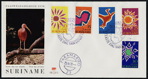 Surinam B162-6 on Bird Cachet FDC - Easter, Butterfly, Bird