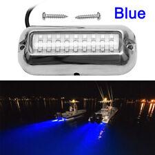 BLUE 27LED  Underwater BOAT MARINE Transom LIGHTS 316 Stainless Steel Pontoon
