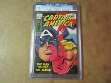 CAPTAIN AMERICA #114 CGC 7.5 Comic Book Nick Fury App
