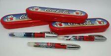 Coca Cola Stock 3 Pens Stypen With Pencil Case Metal Polar Bears