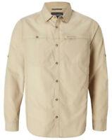 Craghoppers Mens Kiwi  Long Sleeved Shirt - Oatmeal