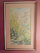 Late Summer Flowers by Jane Carlson 20th Cent. Watercolor Artist