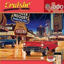 CRUISIN' JIGSAW PUZZLE GAMBLIN MAN HIROAKI SHIOYA 1000 PCS CLASSIC CARS #71516