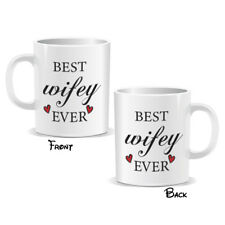 Best Wifey Ever Mug Novelty Husband Lovers Couple Birthday Gift (MUGPN00195)