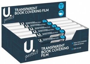 Transparent Book Covering Film 40cm x 1m - Clear Self Adhesive Roll