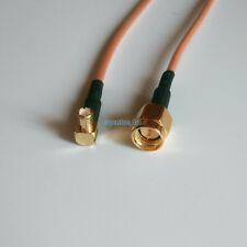 RG316 MCX MALE Right ANGLE to SMA MALE Coaxial RF Pigtail Cable 6Inch Cable