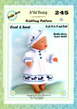 DOLLS KNITTING PATTERN no. 245 for BABYBORN.by Val Young.