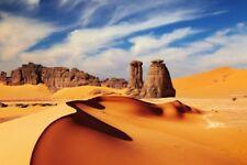 Wallario Maxi-Poster 61 x 91,5 cm - Felsen Sand Sahara Wüste Sand Düne Berge