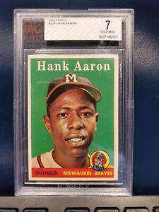 1958 Topps Hank Aaron #30. BVG 7 Near Mint!