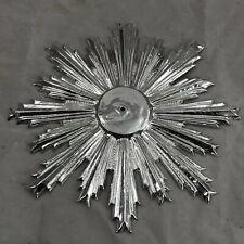 10 cm//inch raggiera argento punzonata cesellata splendore aureola  raggi ihs
