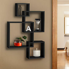 BCP Intersecting Squares Floating Shelf Wall Mounted Home Decor Furniture