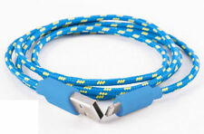 CABLE CHARGEUR IPHONE 5S 6 USB RENFORCÉ BLEU 8PIN SYNCRO LIGHTNING IPOD IPAD 1M