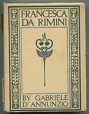 Gabriele D'ANNUNZIO / Francesca Da Rimini First Edition 1902