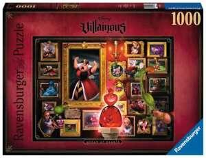 NEW! Ravensburger Disney Villainous Queen Of Hearts 1000pc Puzzle