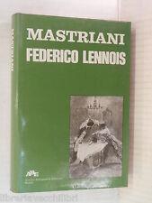 FEDERICO LENNOIS Francesco Mastriani APE 1976 libro romanzo narrativa storia di