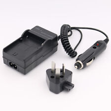 AC+DC Wall+Car Battery Charger For Canon LP-E5 LPE5 EOS 1000D 450D 500D Kiss X2
