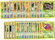 Complete Pokemon  1ST EDITION Fossil Set Commons/Uncommons - 32 Cards - NM/MINT+