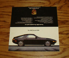 Original 1985 Porsche 928S Sales Sheet Brochure 85