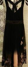 ( Ref 743 )Karen Millen - Size 8 - Black & Peach Sleeveless Party / Formal Dress