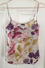 GORMAN Cami Top Size XS White Red Yellow Pink Floral Cotton V Neck Stappy GC