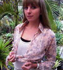 Nylon 3/4 Sleeve Wrap Tops & Blouses for Women