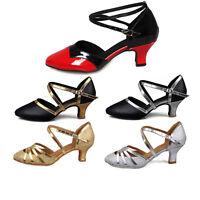 Women new dance ballroom latin dance shoes salsa tango heel