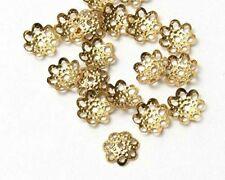800 Pcs Gold Like  Flower Bead Cap