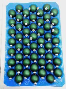 50 Christmas/Christmas Tree Ball Glitter Ball 2in Diameter Dark Green - Matte