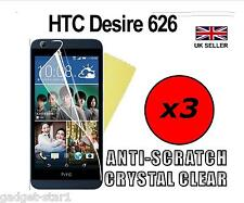 3x Hq Crystal Clear Screen Protector Cover Saver Film Guard For Htc Desire 626