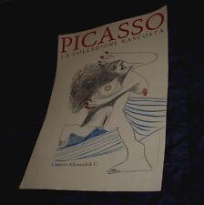 MANIFESTO ORIGINALE PABLO PICASSO LA COLLEZIONE NASCOSTA 1996 ALLEMANDI ... ca70ba5b5954