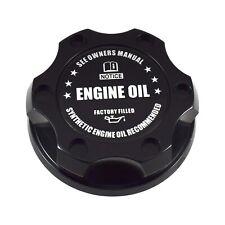 V2 Black Engine Oil Filler Cap Black Notice Emblem For Nissan Infiniti Nismo GTR