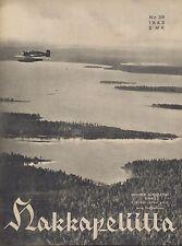 Finland Wartime Magazine Hakkapeliitta 1943 #39 - Warplane in Eastern Karelia