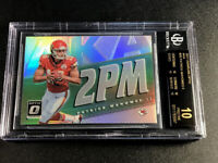 PATRICK MAHOMES 2017 PANINI OPTIC AKA CHROME REFRACTOR ROOKIE BGS 10 BLACK LABEL