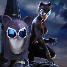Cosplay Catwoman Mask Latex Cat Mask Cat Woman Batman Handmade Mask Halloween
