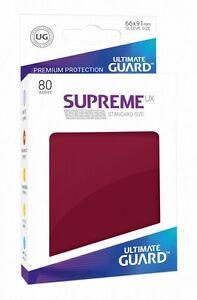 Ultimate Guard Supreme UX Sleeves Standardgröße Burgundrot (80)