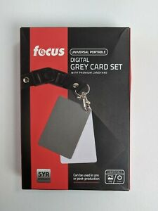 Focus Digital White Balance Grey Card Set with Lanyard for Camera Photography
