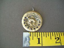 Vintage Wightman Hough Co W&H  locket with lily and Rhinestones