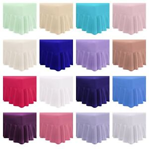 Percale Fitted Valance 100% Poly Cotton Valance Sheets Single Double King S King