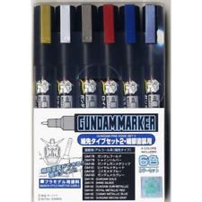 Mr. Hobby Gms126 Gundam Marker Fine Edge Set 2 Bandai Model Paint Tools Creos