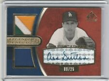 Don Sutton 2004 Upper Deck SP Game Used Legendary Jersey Patch Autograph #/25