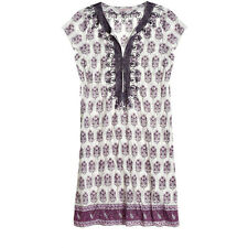 Calypso St. Barth Boho Chic Print Rowena Tunic Dress L White Purple   Ro