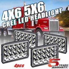 """4Pcs 4X6"""" LED Headlight For Western Star 4900 Semi Truck Peterbilte 357 378 379"""