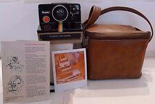 Polaroid SX-70 Rainbow OneStep Presto! Instant Camera +Bag & Instructions TESTED