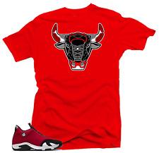Shirt to Match Jordan 14 Gym Red Chicago Toro-Bull 14 Sneaker Tees