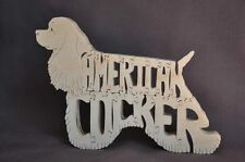 New American Cocker Spaniel Dog Amish Wood Puzzle Toy Made in Usa Figurine
